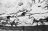 Scene from one of the cave walls at Lascaux