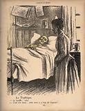 A contagiously ill man asks for the bed-pan