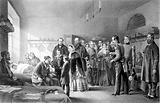 Queen Victoria visiting soldiers wounded in the Crimean war