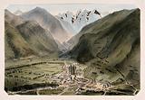 Mountain landscape view of Bagnères de Luchon