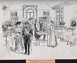 Royal Victoria Hospital, Belfast: a visit by the King and Queen to the Clarence ward