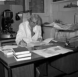 John Young in his room at the Wellcome Institute, London