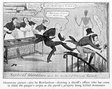 Caricature of J C Carpue, 'Surgical observations…'