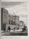 St Luke's Hospital, Cripplegate, London: the facade from the west