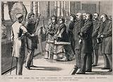 John Tyndall demonstrating a fog-horn to Queen Victoria and her entourage