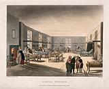The Middlesex Hospital: the interior of one of the female wards