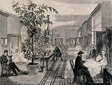 The Hospital of Bethlem (Bedlam), St George's Fields, Lambeth: the men's ward of the infirmary