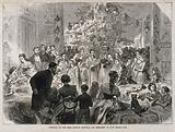 East London Hospital for Children, Shadwell: a party in one of the wards on New Year's Eve
