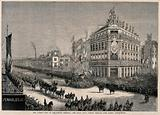 The London Hospital, Whitechapel: Queen Victoria returning in procession from the hospital