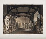 Ashmolean Museum, Oxford: panoramic view of the statue gallery