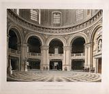 Radcliffe Camera, Oxford: interior of the library showing study areas
