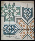 Tiles found in the new wards for homeless poor, Whitechapel, 1866