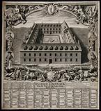 A quadrangle designed for St Mary's Hall, Oxford