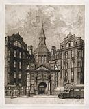 University College Hospital, London: the entrance facade on Gower Street