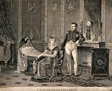 Napoléon I and Marie Louise with their new born son