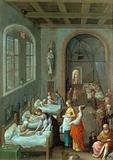 St Elizabeth visiting a hospital