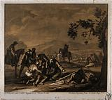 Tending the sick and wounded after a battle