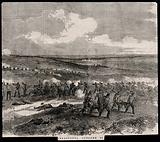 Crimean War: ambulance men removing the wounded from the Battle of Sebastopol