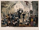 Franco-Prussian War: wounded being treated at Rezonville