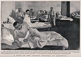 Boer War: wounded soldiers in a ward at the German hospital at Jacobsdal, South Africa