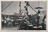 Boer War: the reading-room at the field hospital, Wynberg, South Africa