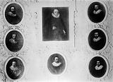 Portraits of Thomas Harvey and his 7 sons