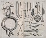 Forceps invented by Helvetius for the examination and amputation of cancerous breasts