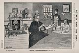 Queen Victoria using sign language to talk to Mrs B Tuffield, a deaf mute woman