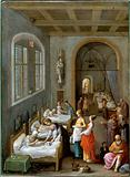 Saint Elizabeth of Hungary bringing food for the inmates of