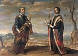 Saint Cosmas and Saint Damian in a landscape