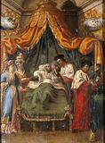 Saint Cosmas and Saint Damian attending to a patient