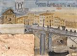 Clemente Latini of Velletri saved by the Madonna del Parto after falling off the Ponte di Ripetta, 1895