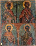 Saint Constantine, Saint Paraskeva, Saint Cosmas and Saint Damian