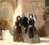 Florence Nightingale with Charles Holte Bracebridge and Selina Bracebridge in a Turkish street