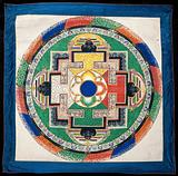 Circle. Watercolour by a Tibetan painter