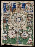 Tibetan cosmological amulet for protection against diseases