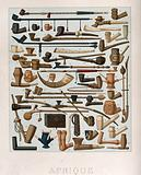 Fifty four different African pipes