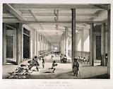 A busy balling room in the opium factory at Patna, India
