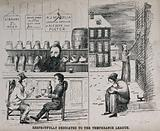 The Sheffield election of 1868: (left) two men play cards and drink in a warm pub