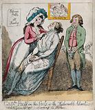 A female barber shaving a man