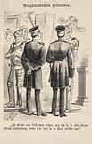 Two military men standing in front of two coats of amour and remarking how unfortunate it must have been to wear …
