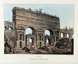 The Porta Maggiore, Rome, incorporating part of the Claudian aqueduct (Aqua Claudia)