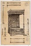 """Cabinet-making: design for a """"four-poster"""" bed"""