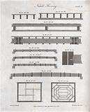 Building: floor joists, simple and composite wooden beams