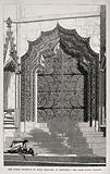 Architecture: a restored carved doorway at St Mary Redcliffe, Bristol