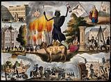Astronomy: various apocalyptic scenes, including cholera (?