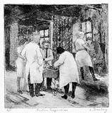 Physicians and nurses inspecting in-patients at Queen Mary's Hospital, Roehampton