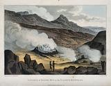 A cauldron of boiling mud on a sulphur mountain, Iceland