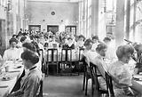 King Edward VII Sanatorium, Midhurst, Sussex: nurses and medical staff (?) about to dine