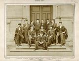 Trinity College, Dublin: Biological Association members on the steps of a College building